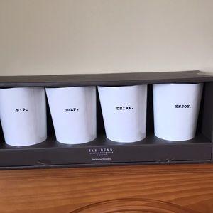 Rae Dunn set of 4 cups Sip. Gulp. Drink. Enjoy.